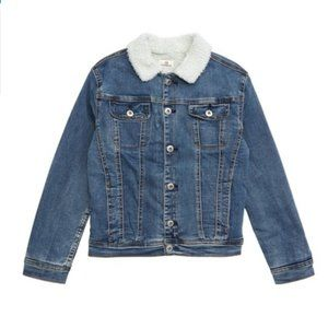AG Fleece Fleece Lined Denim Jacket boys Sz L